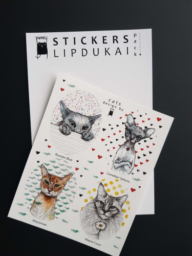 """Stickers """"Cats"""""""